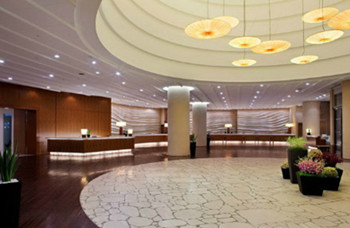 Luxurious and comfortable hotel lobby design