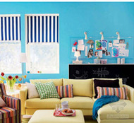 Summer colorful interior design