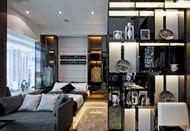 Fashion and cool black hotel design