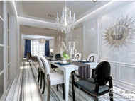 Silver luxury villa interior design