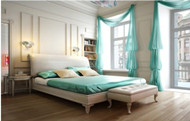 Refreshing colors bedroom design