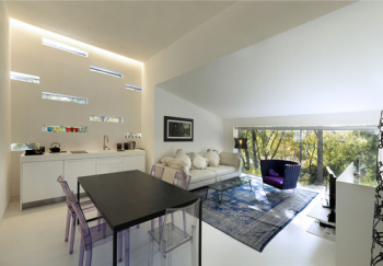 Clean, stylish white home