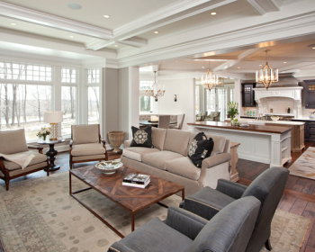 Fashion clean and white drawing room