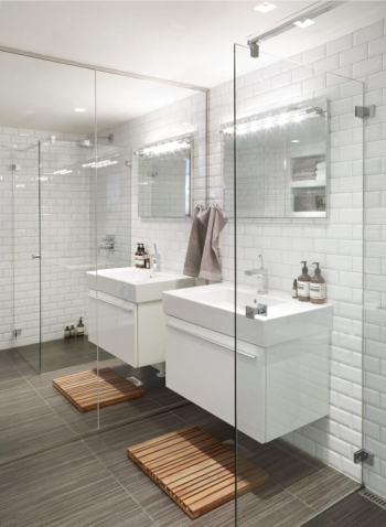 Luxurious and stylish bathroom