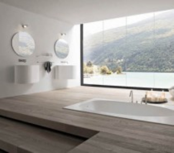 Stylish bathroom windows