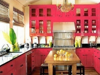 Colourful cozy kitchen