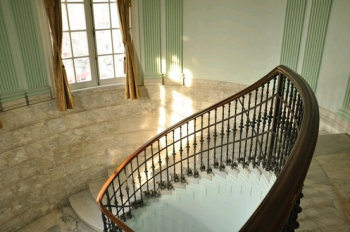 Two styles of fashion and palace staircase design