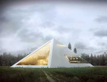 Pyramid shape housing design