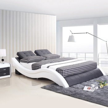 Software tatami bed modern minimalist leather