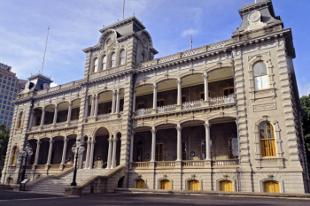 Iolani Palace front HD picture