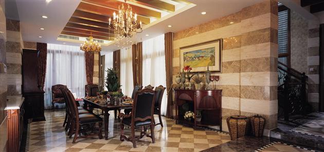 American style villa decoration decoration design effect for American villa interior design
