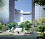Hangzhou Qianjiang New City Civic Center / Civic Plaza landscape design program to appreciate the effect of map